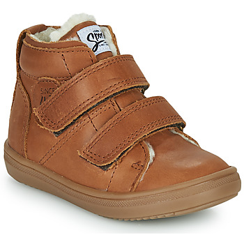 Shoes Boy High top trainers GBB DIEGGO Brown