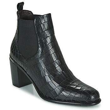 Shoes Women Ankle boots Adige FANNY V5 CROCO NOIR Black
