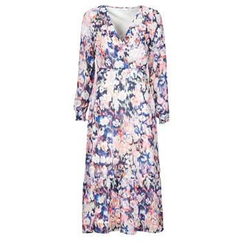 material Women Long Dresses Only ONLZOE White / Multicolour