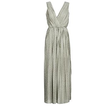 material Women Long Dresses Only ONLELEMA Beige