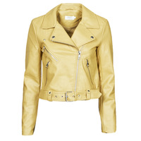 material Women Leather jackets / Imitation leather Only ONLVALERIE Yellow