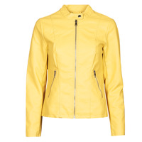 material Women Leather jackets / Imitation leather Only ONLMELISA Yellow