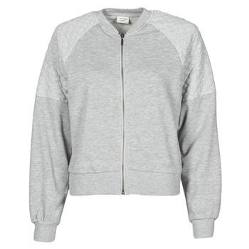 material Women sweaters JDY JDYNAPA L/S RAGLAN BOMBER JRS Grey