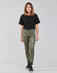 material Women Cargo trousers  G-Star Raw HIGH G-SHAPE CARGO SKINNY PANT WMN Kaki