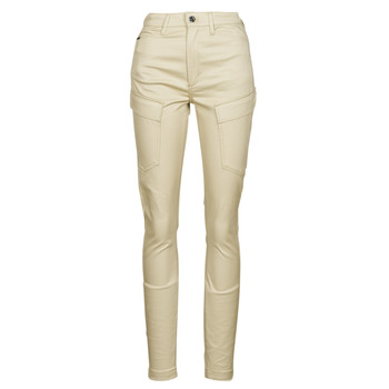 material Women Cargo trousers  G-Star Raw HIGH G-SHAPE CARGO SKINNY PANT WMN Beige