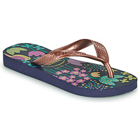 Shoes Girl Flip flops Havaianas KIDS FLORES Marine / Gold