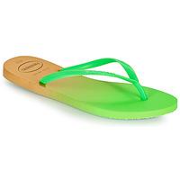 Shoes Women Flip flops Havaianas SLIM GRADIENT White / Green