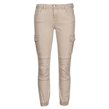 material Women Cargo trousers  Only ONLMISSOURI Beige