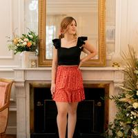 material Women Skirts Céleste AZALEE Red / Multicolour