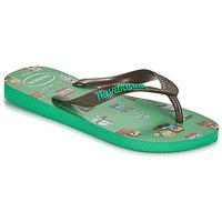 Shoes Boy Flip flops Havaianas KIDS MINECRAFT Green
