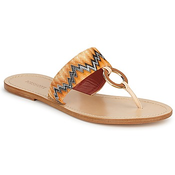 Shoes Women Flip flops Missoni VM048 Orange