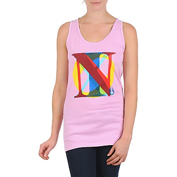 material Women Tops / Sleeveless T-shirts Nixon PACIFIC TANK Pink / Multicolour