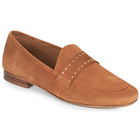 Shoes Women Loafers JB Martin FRANCHE ROCK Brown