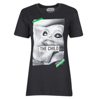 material short-sleeved t-shirts Yurban OUFIMM Black