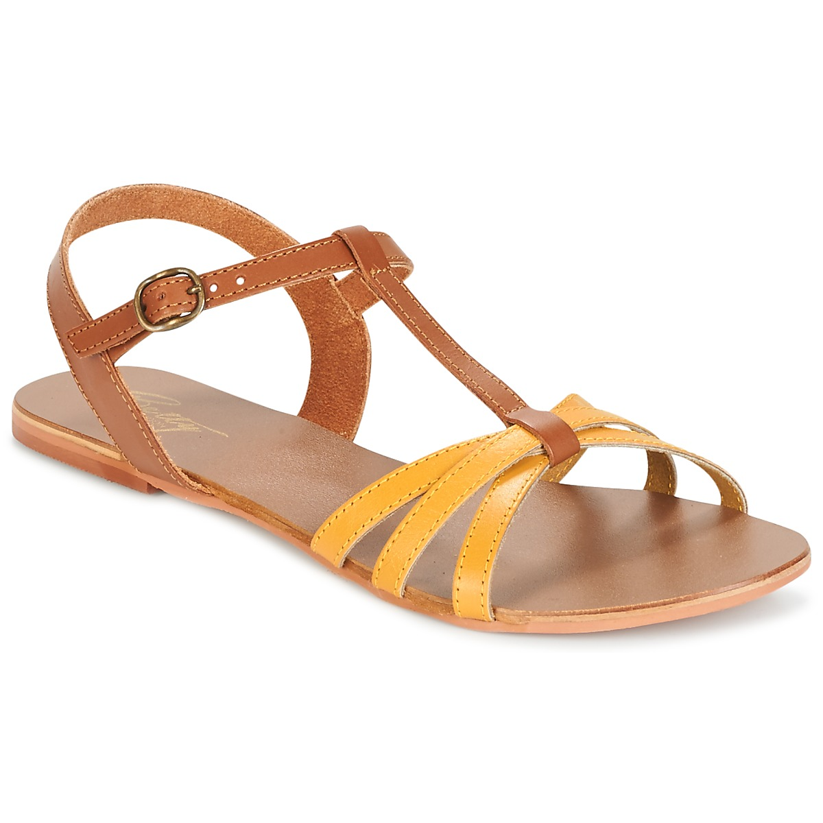Sandals Betty London IXADOL Yellow / CAMEL