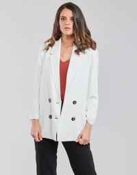 material Women Jackets / Blazers Betty London OBINA White