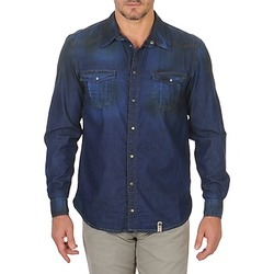 material Men long-sleeved shirts Freeman T.Porter CORWEND DENIM Blue