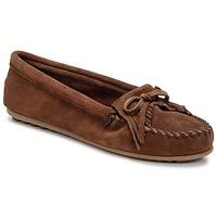 Shoes Women Loafers Minnetonka KILTY Brown / Dark