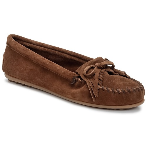 Shoes Women Loafers Minnetonka KILTY Brown / Dark