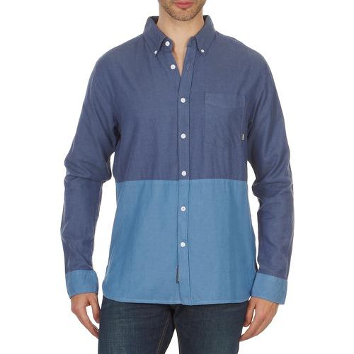 material Men long-sleeved shirts Element BRENTWOOD Blue