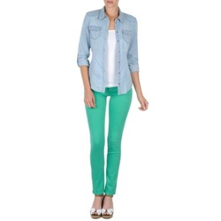 material Women 5-pocket trousers Cimarron CASSIS Green