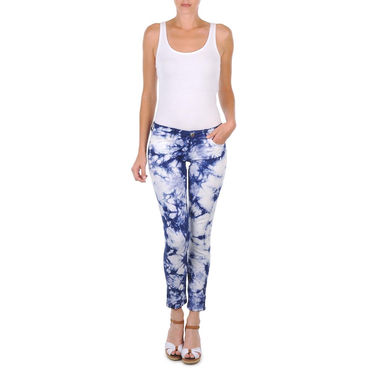 cropped trousers Cimarron CLARA TIE DYE Blue