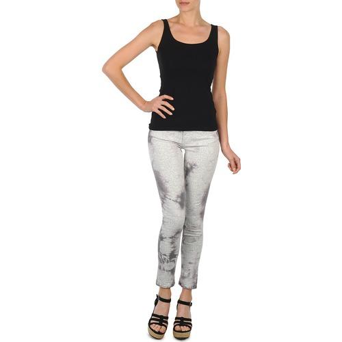 material Women cropped trousers Cimarron CLARA TIE DYE PYTHON Grey