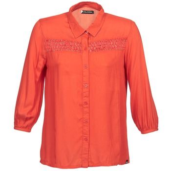 material Women long-sleeved shirts Volcom KNOTTY Red
