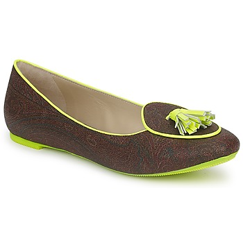 Shoes Women Ballerinas Etro BALLERINE 3738 Brown / Citron