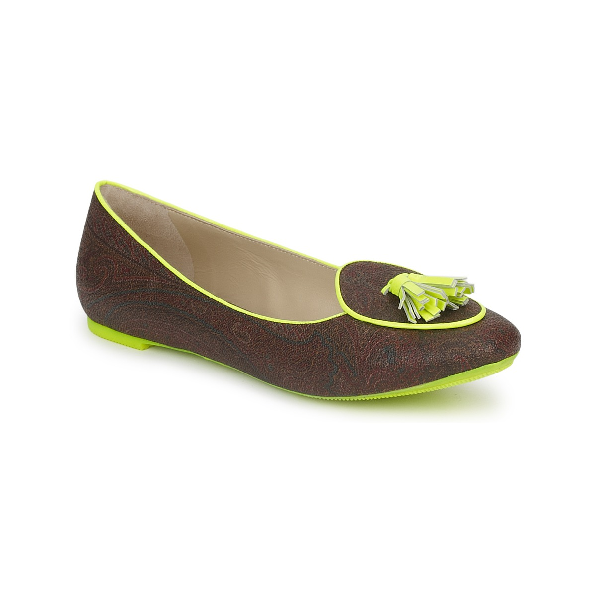 Smart-shoes Etro BALLERINE 3738 Brown / Citron