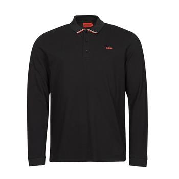 material Men long-sleeved polo shirts HUGO DONOL Black