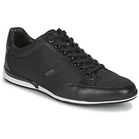 Shoes Men Low top trainers BOSS Saturn_Lowp_nyst Black