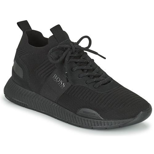 Shoes Men Low top trainers BOSS TITANIUM RUNN KNST1 Black