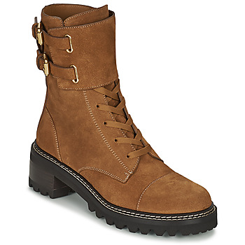 Shoes Women Ankle boots See by Chloé MALLORY Cognac