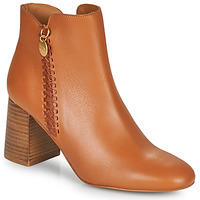 Shoes Women Ankle boots See by Chloé LOUISEE Camel