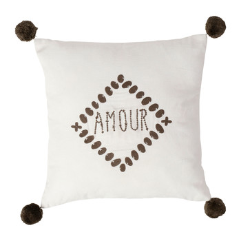 Home Cushions Jardin d'Ulysse AMOUR White