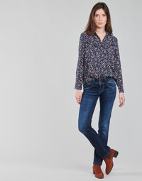 material Women straight jeans Pepe jeans NEW GEN Blue / Raw / Dh3