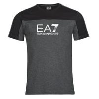 material Men short-sleeved t-shirts Emporio Armani EA7 TRAIN ATHLETIC Black