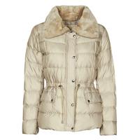 material Women Duffel coats MICHAEL Michael Kors ECO FX FUR CLLR PUFFER Ivory