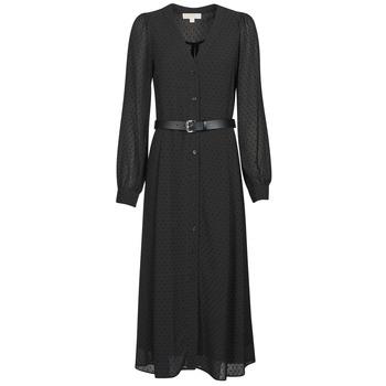 material Women Long Dresses MICHAEL Michael Kors CRINKLE DOTS KATE DRS Black