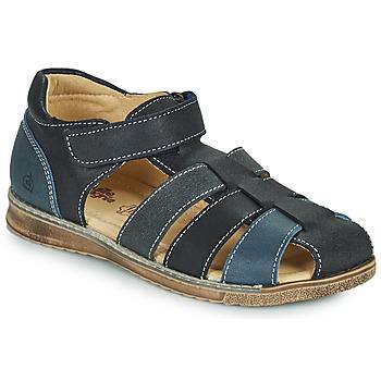 Shoes Boy Sandals Citrouille et Compagnie FRINOUI Marine / Grey