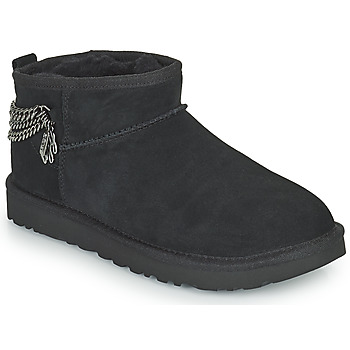 Shoes Women Mid boots UGG Classic Ultra Mini Chains Black