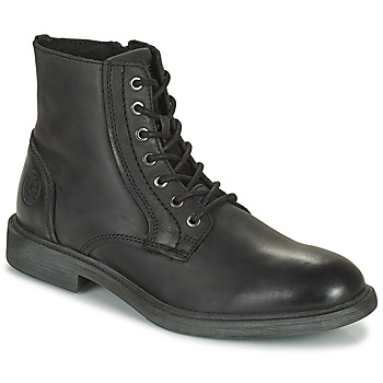 Shoes Men Mid boots Jack & Jones JFW KARL LEATHER BOOT Black