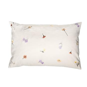 Home Cushions covers Broste Copenhagen FLORA White