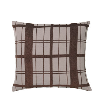 Home Cushions covers Broste Copenhagen CHEQUER Brown