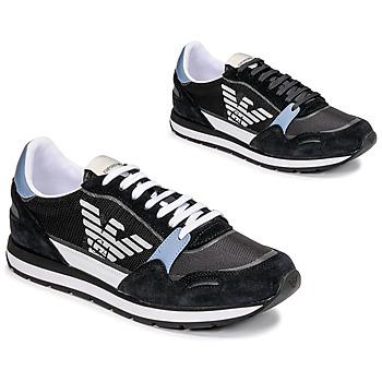 Shoes Men Low top trainers Emporio Armani ANIMA Black / Blue / Bordeau