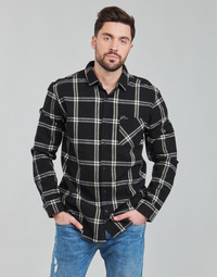 material Men long-sleeved shirts Rip Curl CHECKED OUT L/S FLANNEL Black