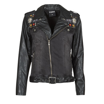 material Women Leather jackets / Imitation leather Desigual MERX Black