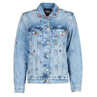 material Women Denim jackets Desigual JULIETA Blue