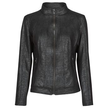 material Women Leather jackets / Imitation leather Desigual COMARUGA Black